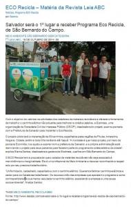Material Revista Leia ABC