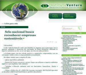 Instituto Ventura - Sobre Selo Verde